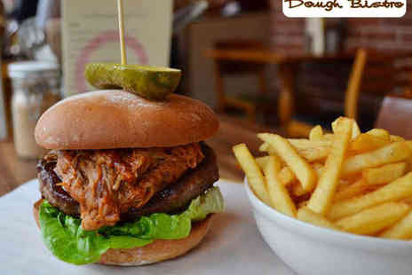 Dough Bistro - Classic, Vegetable, or Pulled Pork Burger and Twice-Cooked Chips Each with Coleslaw and Side Salad to Share for Two - Save 52%