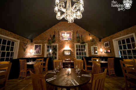 The Hanging Gate Inn - Starter, Main Course, and Glass of Wine each for Two - Save 44%