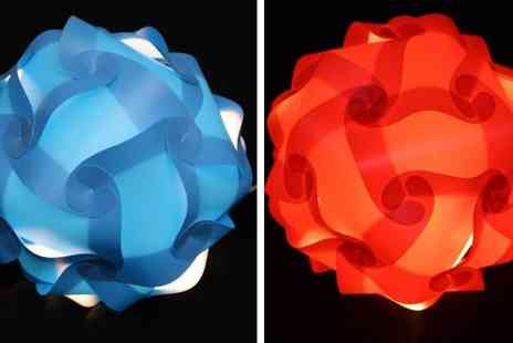 CRC Global Essentials - Puzzle Lamps in Five Different Colours - Save 73%