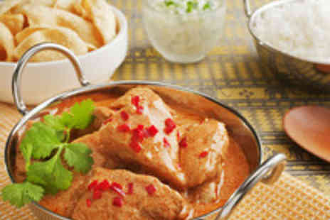 New Gandhi - Two Course Curry Meal with Sides and Wine - Save 51%