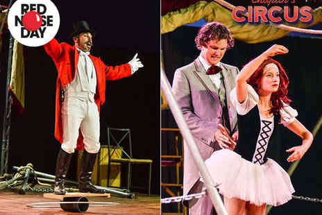 Chaplins Circus - Four Grandstand Tickets to Chaplins Circus with Popcorn or Candy Floss Each and Family Print - Save 51%