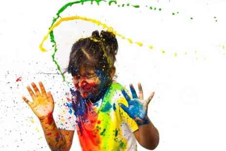 PGD Photography - Splash of Colour Paint Photoshoot For Up to Four  - Save 80%