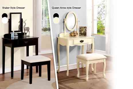 Mattress Shed - Three piece vintage style dressing table - Save 65%