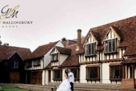 Great Hallingbury Manor - Wedding Package With Ceremony and Reception Room Hire Plus Breakfast For Up to 60 Guests - Save 60%
