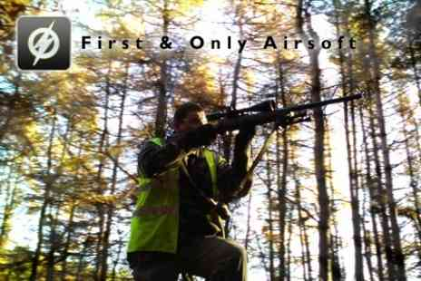 First and Only Airsoft - Outdoor War Game Experience With Lunch for £20 - Save 60%