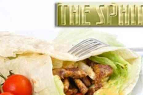 The Sphinx - Chicken Kebab With Rice, Chips or Bread For Two - Save 52%
