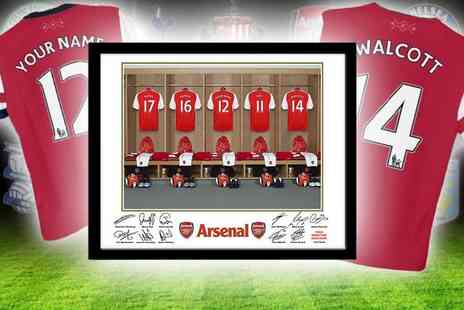 UR in the Paper -  Framed dressing room photo of your football team personalised with your name - Save 56%