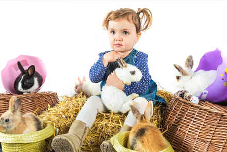Living Things - Easter family photoshoot for up to Six with live rabbits - Save 76%