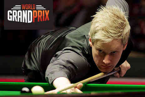 Venue Cymru -  All Day 1 p.m. or 7 p.m. Ticket to World Grand Prix Snooker on March 16, 17 and 18  - Save 50%