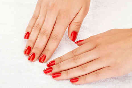 Enhance Nails and Beauty - Gel Polish Manicure with Pedicure  or Semi Permanent Lashes  - Save 53%