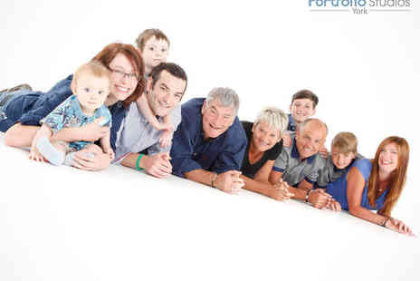 Portfolio Studios - Family Photo Shoot for up to 25  and One Print or Digital Image - Save 93%