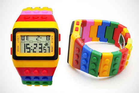 Fun Building Block Watch - Building Block Watch, Delivery Included - Save 73%