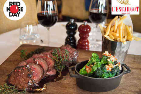 Lescargot - One Chateaubriand to Share Between Two with Fries and a Side Each - Save 52%