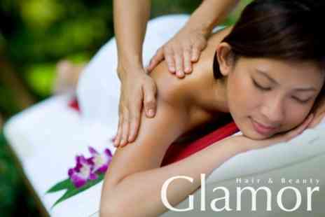 Glamor Hair & Beauty - Luxury Manicure and Pedicure With Back, Neck and Shoulder Massage - Save 70%