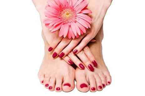 Spritz Me - Shellac Manicure or Pedicure or Both  - Save 53%