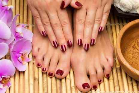 Miracles Beauty Lounge - Shellac Manicure or Pedicure or Both  - Save 56%