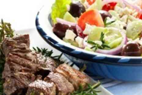 Parthenonas - Two Courses of Greek Cuisine For Four  With Ouzo and Coffee Each - Save 58%