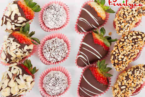 Fruityco - One Luxury Box of Belgian Chocolate Dipped Fruit - Save 72%