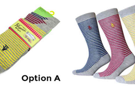 Barnswell  - Original Penguin Mens Socks for 3 Pack - Save 65%