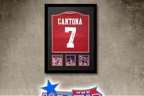 All Star Signings - Framed Manchester United Shirt Signed by Eric Cantona - Save 55%