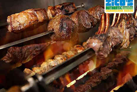 Zicos Grill Bar - All You Can Eat Rodizio Meal for Two - Save 45%