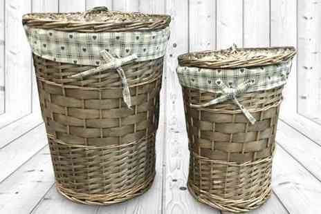 my internet warehouse - Two Rattan Wicker Laundry Baskets - Save 33%