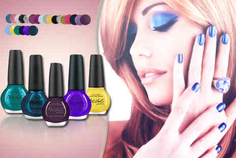 JustShe - Five OPI Nicole nail polishes  from a choice of 51 colours - Save 79%