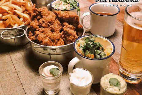 Pattersons - Basket of Fried Chicken to Share with a Side and Beer Each for Two  - Save 0%