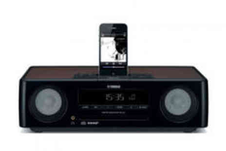 Electrical Experience - Yamaha clock radio with large display in black - Save 0%