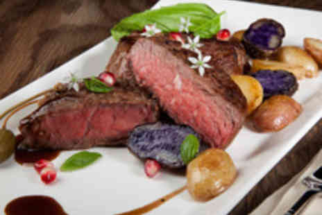 Signature Steakhouse - Steak Meal with a Glass of Wine for Two - Save 43%