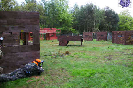 Paintball Park - All Day Paintball Experience with 100 Paintballs, Light Lunch, and Equipment Hire for up to Five  - Save 82%