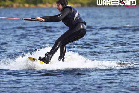 Loch Lomond Wakeboard - Beginners Learn to Ride Wakeboarding Package with Four Hours of Paddleboard Hire  - Save 70%