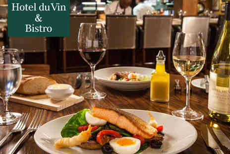 Hotel Du Vin and Bistro - Starter and Main Course, or Main Course and Dessert with Glass of Wine Each for Two - Save 49%
