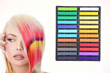 Colourful Hair Chalks - Coloured Hair Chalks  - Save 80%