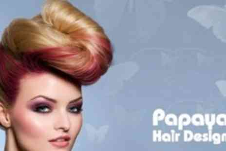 Papaya Hair Design - Full Head of Colour or Half Head of Highlights or Lowlights, With Cut - Save 73%