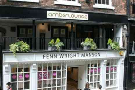 Amber Lounge  - Two Courses With Cocktails For Two  - Save 56%