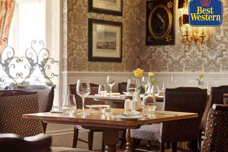 The Grosvenor Hotel  - Starter, Main Course, Dessert, and Glass of Wine Each for Two - Save 0%