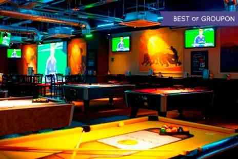 Shooters Sports Bar - Burger, Pizza or Salad With Drink For One - Save 52%