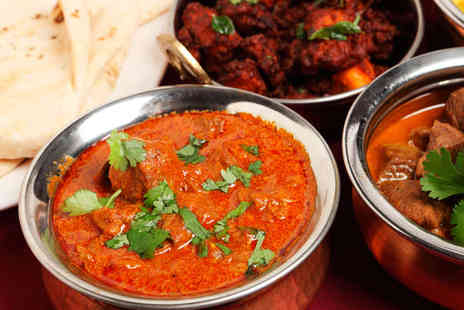 The Moghul  - Starter, Main Course, Naan bread, Rice, and Poppadoms for Two  - Save 47%