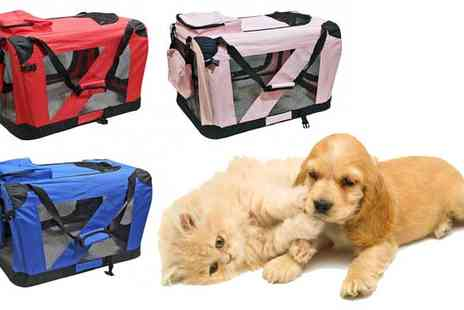 Turborevs - Folding Pet Travel Carrier Crate - Save 14%