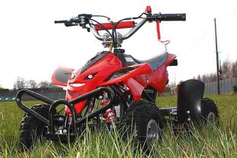 STO Racing Products - 49cc Mini Off Road Petrol Quad Bike in Choice of Colour f With Free Delivery  - Save 49%