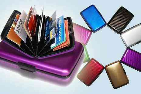 Quirky Online - Two Waterproof Metallic Card Holders - Save 89%