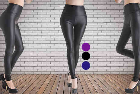 Pink Style - Faux Leather Matte Leggings - Save 75%