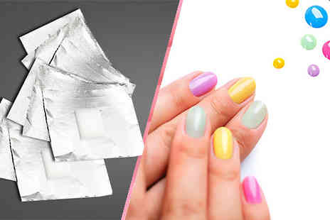 Online Gift Store - 100 Gel Nail Polish Remover Wraps - Save 50%