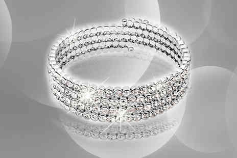 AthenaFashion E-Store Limited - Four Row Tennis Bracelet - Save 88%