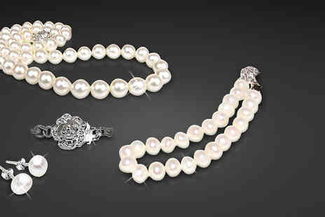 AthenaFashion E-Store Limited - Freshwater Pearl Tri Set - Save 87%