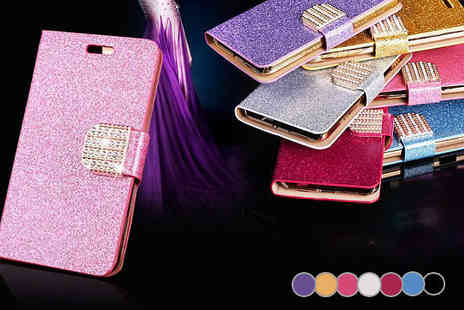 Richardson Group - Rhinestone Encrusted Leather Case iPhone 6 - Save 67%