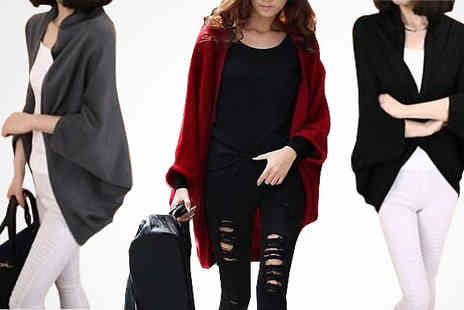 The London Touch - Cashmere Feel Oversized Batwing Cardigan - Save 88%
