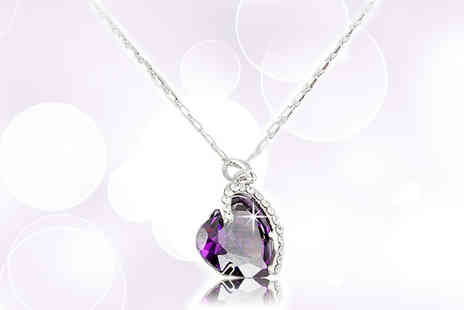 Athena Fashion - Violet Love Heart Pendant - Save 86%