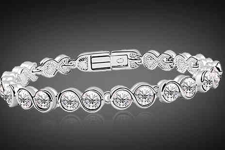 Athena Fashion - 18K White Gold Plated Overlay Bracelet - Save 86%